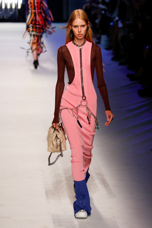 massimo: MILAN, ITALY - SEPTEMBER 27: A model walks the runway during the MSGM fashion show as part of Milan Fashion Week SpringSummer 2016 on September 27, 2015 in Milan, Italy.
