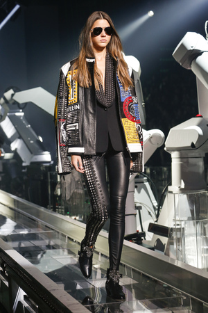 MILAN, ITALY - SEPTEMBER 23: A model walks the runway during the Philipp Plein show as a part of Milan Fashion Week SpringSummer 2016 on September 23, 2015 in Milan, Italy.