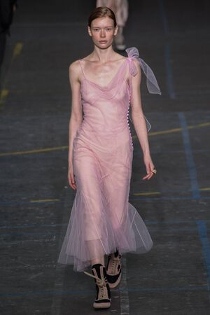 show bill: PARIS, FRANCE - MARCH 06: Model Julia Hafstrom walks the runway during the John Galliano show as part of the PFW FallWinter 201617 on March 6, 2016 in Paris, France.