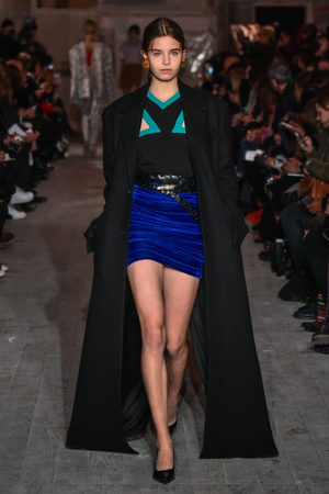 lvmh: PARIS, FRANCE - MARCH 01: A model walks the runway during the YProject show as part of the Paris Fashion Week Womenswear FallWinter 20162017 on March 1, 2016 in Paris, France.