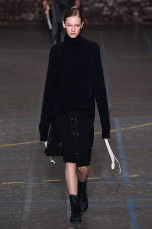 eva: PARIS, FRANCE - MARCH 06: Model Eva Varlamova walks the runway during the John Galliano show as part of the PFW FallWinter 201617 on March 6, 2016 in Paris, France.
