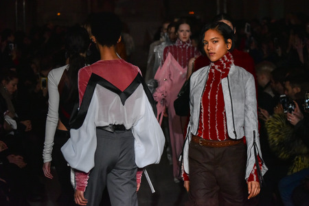 lvmh: PARIS, FRANCE - MARCH 01: Models walks the runway during the YProject show as part of the Paris Fashion Week Womenswear FallWinter 20162017 on March 1, 2016 in Paris, France.
