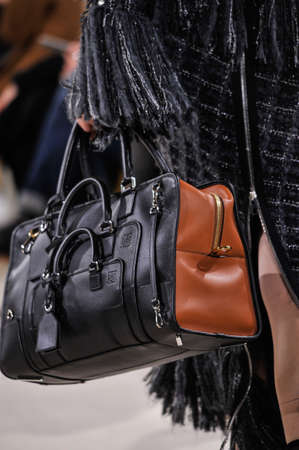 hi back: PARIS, FRANCE - MARCH 4: A Model walks runway (detail) at the Loewe show during Paris Fashion Week AutumnWinter 201617 on March 4, 2016 in Paris, France.