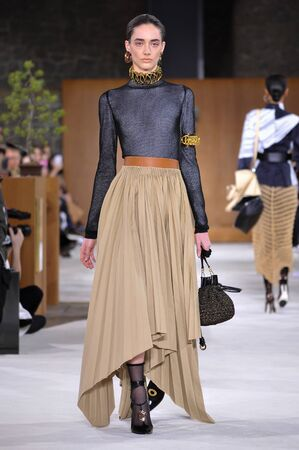 amanda: PARIS, FRANCE - MARCH 4: Model Amanda Googe walks runway at the Loewe show during Paris Fashion Week AutumnWinter 201617 on March 4, 2016 in Paris, France.