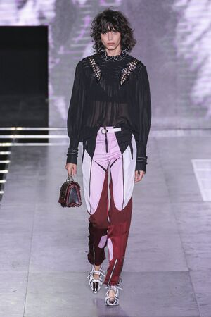 louis vuitton: PARIS, FRANCE - OCTOBER 07: A model walks the runway during the Louis Vuitton show as part of the Paris Fashion Week Womenswear SpringSummer 2016 on October 07, 2015 in Paris, France.