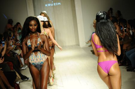 lila: MIAMI, FL - JULY 17: Models walk the runway finale during Lila Nicole Spring Summer 2017 Runway Show at Funkshion tent on July 17, 2016 in Miami Beach, FL