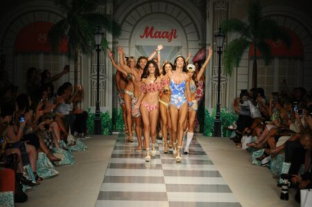 finale: MIAMI, FL - JULY 17: Models walk the runway finale during Maaji Spring Summer 2017 Runway Show at Funkshion tent on July 17, 2016 in Miami Beach, FL