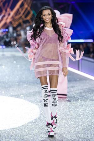 PARIS, FRANCE - NOVEMBER 30: Lamenka Fox walks the runway at the Victorias Secret Fashion Show on November 30, 2016 in Paris, France.