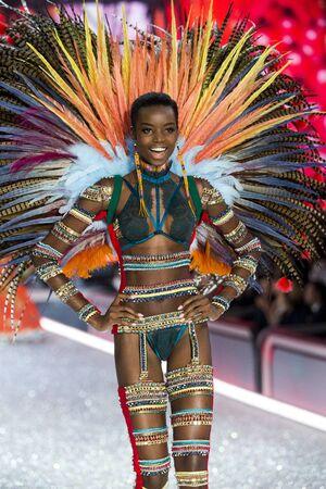 ARIS, FRANCE - NOVEMBER 30: Maria Borges walks the runway at the Victorias Secret Fashion Show on November 30, 2016 in Paris, France.