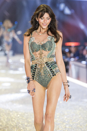PARIS, FRANCE - NOVEMBER 30: Georgia Fowler walks the runway at the Victorias Secret Fashion Show on November 30, 2016 in Paris, France.