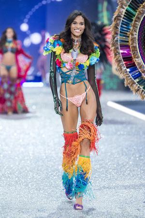 PARIS, FRANCE - NOVEMBER 30: Cindy Bruna walks the runway at the Victorias Secret Fashion Show on November 30, 2016 in Paris, France.