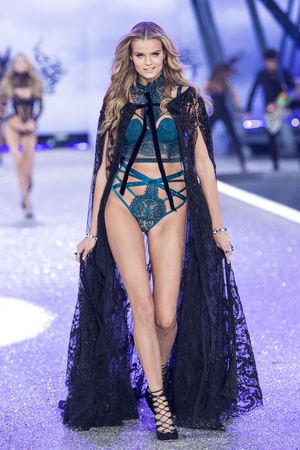 PARIS, FRANCE - NOVEMBER 30: Kate Grigorieva walks the runway during the 2016 Victorias Secret Fashion Show on November 30, 2016 in Paris, France. Editorial