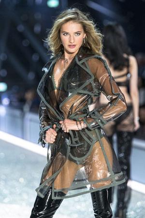 PARIS, FRANCE - NOVEMBER 30: Sanne Vloet walks the runway during the 2016 Victorias Secret Fashion Show on November 30, 2016 in Paris, France.