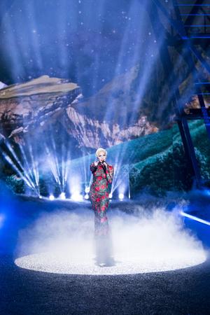 gaga: PARIS, FRANCE - NOVEMBER 30: Lady Gaga performs during the Victorias Secret Fashion Show on November 30, 2016 in Paris, France. Editorial