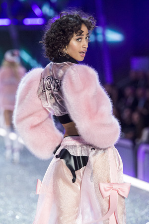 PARIS, FRANCE - NOVEMBER 30: Alanna Arrington walks the runway at the Victorias Secret Fashion Show on November 30, 2016 in Paris, France. Editorial