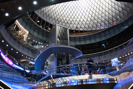 NEW YORK, NY-OCTOBER 22: Fulton Center is part of a $1.4 billion project by the Metropolitan Transportation Authority and connects ten services via an east-west underground passageway.