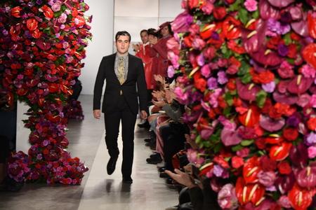 NEW YORK, NY - FEBRUARY 02: Designer Alejandro Gmez Palomo walks the runway at the Palomo Spain Collection during NYFW: Mens at the Cadillac House on February 2, 2017 in New York City.