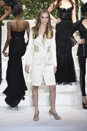cocaine: NEW YORK, NY - FEBRUARY 09: Ine Neefs walks the runway at La Perla fashion show FallWinter 2017-2018 Ready To Wear Show on February 9, 2017 in New York City.