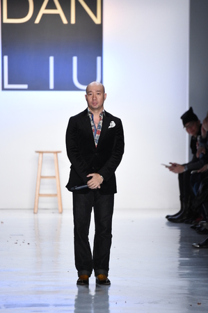 liu: NEW YORK, NY - FEBRUARY 10: Designer Dan Liu greets the audience on the runway for the Dan Liu collection during, New York Fashion Week on February 10, 2017 in New York City.