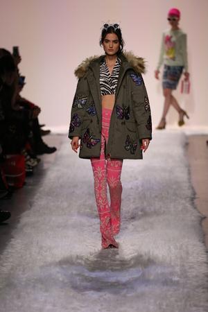 padilla: NEW YORK, NY - FEBRUARY 10: Blanca Padilla walks the runway at the Jeremy Scott show during New York Fashion Week on February 10, 2017 in New York City.