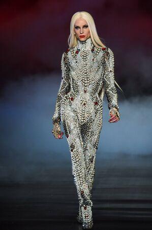 NEW YORK, NY - FEBRUARY 14: Phillipe Blond  walks the runway during The Blonds February 2017 New York Fashion Week on February 14, 2017 in New York City.