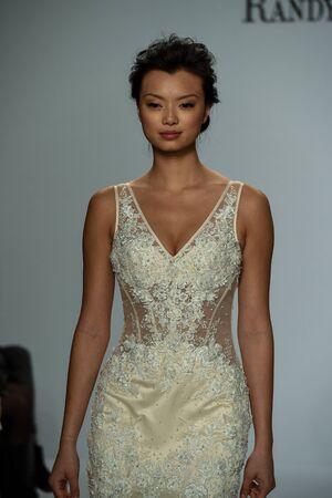 NEW YORK, NY - APRIL 20: Models walk the runway finale at the Randy Fenoli SpringSummer Bridal 2018 show at  Kleinfeld Hotel on April 20, 2017 in New York City. Editorial