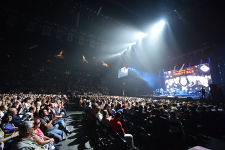 thousands: BROOKLYN, NY - JUNE 03: Over ten thousands people attend the Viktor Drobysh 50th year birthday concert at Barclay Center on June 03, 2017 in Brooklyn NY.