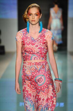 MIAMI, FL - JULY 20: A model walks the runway during Hale Bob fashion show for Funkshion Miami Swim Week on July 20, 2017. Editorial