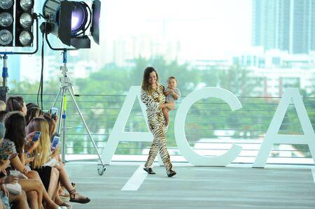 MIAMI, FL - JULY 22: Designer Naomi Acacia Newirth walks the runway at Acacia fashion show during Funkshion Swim Fashion Week at 1111 Lincoln Road on July 22, 2017 in Miami, Florida. Editorial