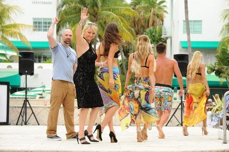 MIAMI BEACH, FL - JULY 22: Designer Kasia Roginska and models walk the runway at Karo Swimwear fashion show during Miami Splash : Dive Into Fashion V Swimwear Showcase on July 22, 2017 in Miami Beach, Florida.