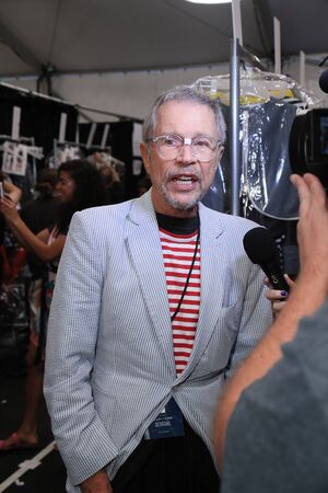 NEW YORK, NY - SEPTEMBER 07: Designer Jean-Paul Goude backstage at the Desigual fashion show during New York Fashion Week on September 7, 2017 in New York City.