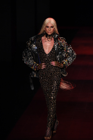 NEW YORK, NY - SEPTEMBER 12: Phillippe Blond walks the runway for The Blonds fashion show during New York Fashion Week: The Shows at Gallery 1, Skylight Clarkson Sq on September 12, 2017 in New York City.