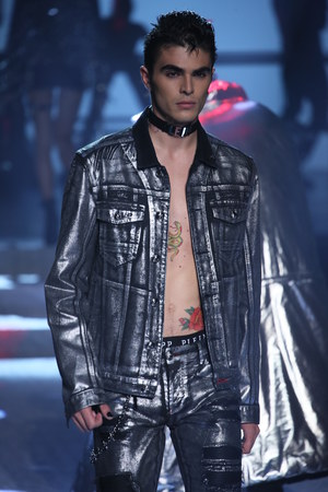 NEW YORK, NY - SEPTEMBER 09: A model walks the runway at the Philipp Plein fashion show during New York Fashion Week: The Shows at Hammerstein Ballroom on September 9, 2017 in New York City. Editorial