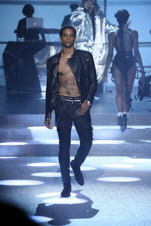 NEW YORK, NY - SEPTEMBER 09: Cordell Broadus walks the runway at the Philipp Plein fashion show during New York Fashion Week: The Shows at Hammerstein Ballroom on September 9, 2017 in New York City.