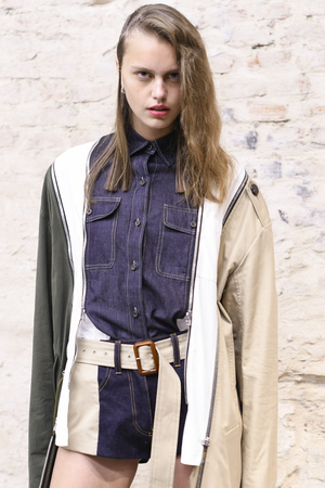 MILAN, ITALY - SEPTEMBER 20: A model is seen backstage ahead of the Atsushi Nakashima show during Milan Fashion Week SpringSummer 2018 on September 20, 2017 in Milan, Italy. Editorial