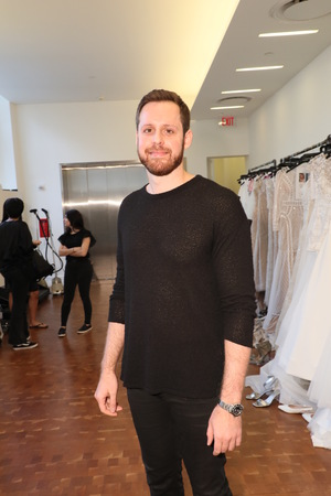 NEW YORK, NY - APRIL 13: Designer Justin Alexander posing backstage before the Justin Alexander Spring 2019  Bridal Fashion show on April 13, 2018 in New York City. Editorial