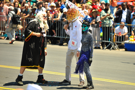 NEW YORK, NY - JUNE 16: The Chief Justice of Mermaid Parade and participants at  the 36th annual Mermaid Parade in Coney Island on June 16, 2018 in New York City.