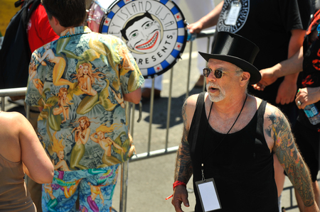NEW YORK, NY - JUNE 16: Artistic Director Dick Zigun at the 36th annual Mermaid Parade in Coney Island on June 16, 2018 in New York City.