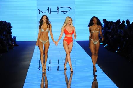 MIAMI BEACH, FL - JULY 12: Designer Monica Hansen  and models walk the runway for Monica Hansen during the Paraiso Fashion Fair at The Paraiso Tent on July 12, 2018 in Miami Beach, Florida. Editorial