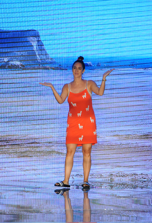 MIAMI BEACH, FL - JULY 15: Designer Clara Lago walks the runway for Pitusa during the Paraiso Fasion Fair at The Paraiso Tent on July 15, 2018 in Miami Beach, Florida.