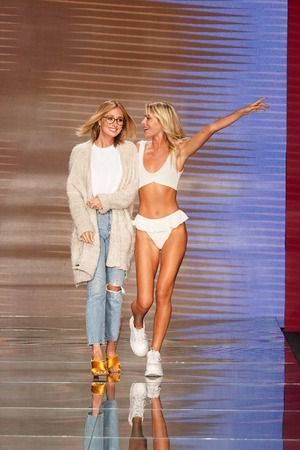 MIAMI BEACH, FL - JULY 15: Designer Alexandra Grief walks the runway for Montce Swim Resort Spring 2019 during the Paraiso Fasion Fair at The Paraiso Tent on July 15, 2018 in Miami Beach, Florida.