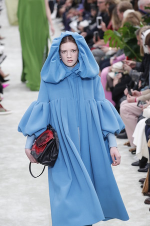 PARIS, FRANCE - MARCH 04: A model walks the runway during the Valentino show as part of the Paris Fashion Week Womenswear FallWinter 20182019 on March 4, 2018 in Paris, France.