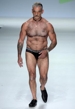NEW YORK, NY - SEPTEMBER 07: Anthony Varrecchia walks the runway during Marco Marco - September 2017 - New York Fashion Week on September 7, 2017 in New York City