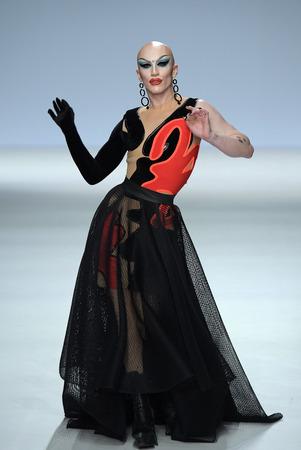 NEW YORK, NY - SEPTEMBER 07: Sasha Velour walks the runway during Marco Marco - September 2017 - New York Fashion Week on September 7, 2017 in New York City
