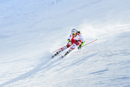 KILLINGTON, VT - NOVEMBER 24: Franziska Gritch of Italy in the finish area after the second run of the giant slalom at the Audi FIS Ski World Cup - Killington Cup on November 24, 2018 in Killington, Vermont.