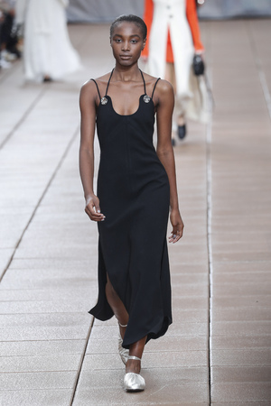 NEW YORK, NY - SEPTEMBER 10: A model walks the runway for 3.1 Phillip Lim during New York Fashion Week at New Design High School on September 10, 2018 in New York City.