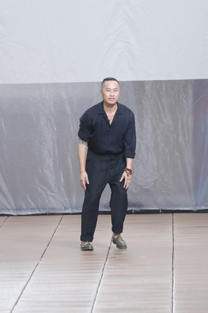 NEW YORK, NY - SEPTEMBER 10: Designer Phillip Lim walks the runway for 3.1 Phillip Lim during New York Fashion Week at New Design High School on September 10, 2018 in New York City. Editorial