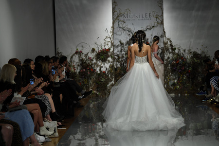 NEW YORK, NY - APRIL 11: Models walk the runway finale during the Morilee by Madeline Gardner Spring 2020 bridal fashion show at New York Fashion Week: Bridal on April 11, 2019 in NYC. Sajtókép