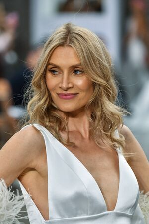 NEW YORK, NY - OCTOBER 4: A model walks the runway during the Pnina Tornai Fall 2020 Bridal Runway Show on OCTOBER 4, 2019 in New York City.