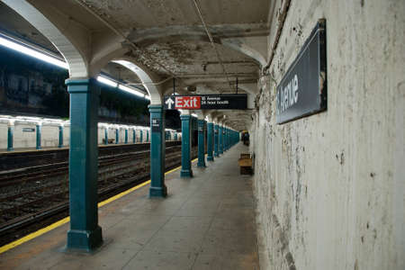 Subway train station Editorial